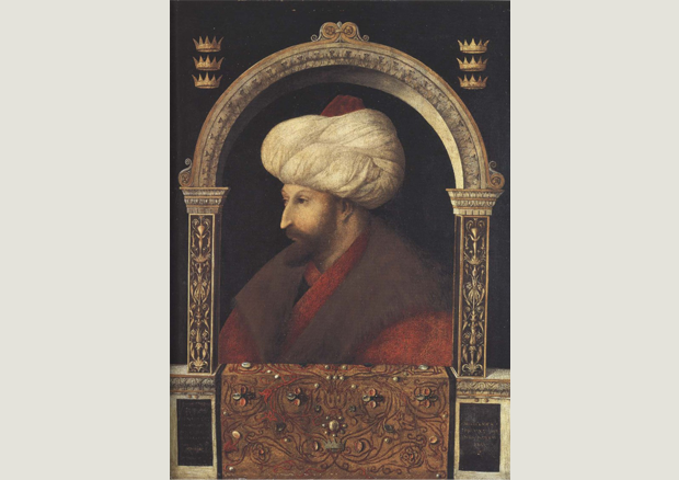 Gentile Bellini, Sultan Mehmet II, 1480, National Gallery, London -