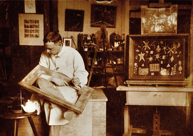 Paul Klee in his studio, Kistlerweg 6, Bern -