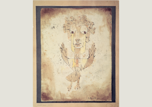 Paul Klee, Angelus novus, 1920, Ölpause und Aquarell auf Papier auf Karton, Collection of the the Israel Museum, Jerusalem -